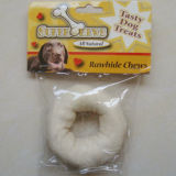 "Dog Products 4""-5""White Puffy Donut Dog Chew"
