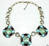 Big Square Stone Pendant with Diamond Necklace (XJW12359)