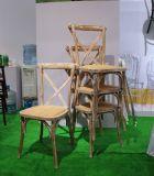 Oak Wood Stackable Cross Back Chair