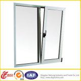 Double Tempered Glass Horizontal Pivoting Aluminium Window