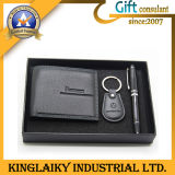 Leather Wallet Gift Set with Customized Logo for Promotion (KEM-006)