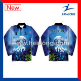 Healong Top Sale Sportswear Digital Printing Sublimation Fishing Jersey