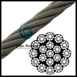 Ungalvanized 19*19 Iwrc Compacted Wire Rope with 1870kn Tensile