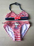 Lovely Red Strip Colorful Swimwear for Girls, Kids Swimsuit Bikini