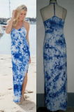 T-Back Tie Dye Women Fashion Long Beach Maxi Dress