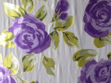 Burn out Discharge Printed Silk Opal in Floral Design