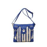 2015 New Arrival Vertical Stripe Canvas Messenger Bag (MBNO039070)