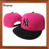 Custom Pink Snapback Caps with 3D Embroidery