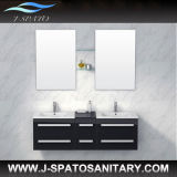 European Morden High-Gloss Black 2-Person Bathroom Cabinet (JS-C8006)