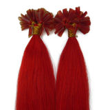 100%Human Hair Red Color Nail Tip Hair