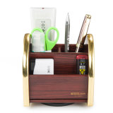 Rotatable Multi Functional Wooden Storage Organizer Small Size