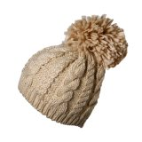 Promotional Custom Made Women Lady Winter Warm Knitted Acrylic Crochet Slouch Baggy Beret Beanie Hat Cap
