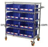 Wire Shelving Trolley with Bins Unit (WST3614-010)