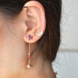 New Fashion Multiple Mixed Rhinestone Crystal Stud Earrings Custom Jewelry