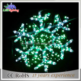 Green LED Snowflake Christmas Motif Lights 60*60cm
