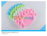 20.5*14cm Colorful Art Palette for Kids and Students (cute foot)