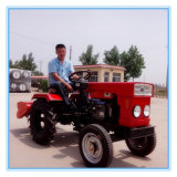 Huaxia Factory Best Price Diesel Engine 12HP 15HP Mini Tractor with CE Certificate Rotary Tiller/Plough/Mower Attached
