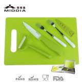 Ceramic Tableware for Fruit Knife+Peeler+Stainless Steel Forks+Chopping Board