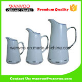 China Wholesale Ceramic Water Milk Pitcher of Three Sizes