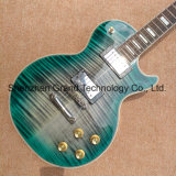 Custom Lp Electric Guitar with Green&Blue Flame Maple Top (GLP-559)