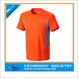 Men Custom Fitness Polyester Sports Tshirt with Mesh Fabric Insert