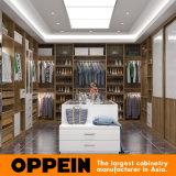 Modern Luxury Wood Grain Walk-in Bedroom Closet Wardrobe Design (YG16-M08)