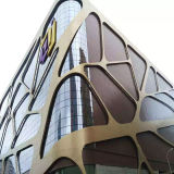 PVDF Coating Curved Aluminum Panels for Special Designed Buildings