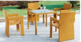 Luxury Outdoor Furniture PE Rattan Wicker Modern Dining Set