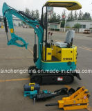 0.8 Ton Mini Digger Hydraulic Crawler Excavator with Grab Attachments Xn08