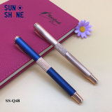 Luxury Product Copper Metal Pen Rose Golden and Blue Roller Pen