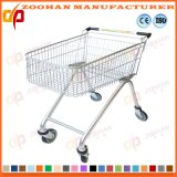 Chrome or Zinc Wheeled Grocery Cart Wire Shopping Trolley (Zht158)