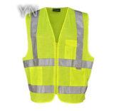 En20471 High Visibility Mesh Safety Vest with Pocket