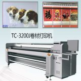 Hybrid UV LED Flatbed to Roll Rigid Media Cmykw UV Printer