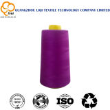 High-Speed 100% Raw White and Dyed Polyester Sewing Thread 40s/2