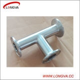 Sanitary Stainless Steel Pipe Fitting Clamped Tee