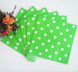 Green Polka DOT Colorful Hot Selling Paper Napkin for Hotel
