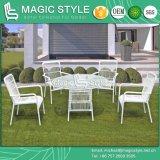 New Design Rattan Dining Set Wicker Dining Set Stackable Chair Rattan Table (Magic Style)