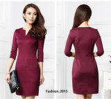 OEM 2015 Fashion Winter Fit Slim Women Bodycon Dress