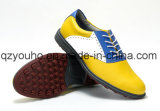 Handmade Colorful Men′s Soft Spike Rubber Sole Golf Shoes