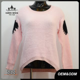 Women Fur Special Sleeve Knitted Pullover Sweater