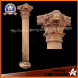 Gold Color Marble Carved European Style Pillars