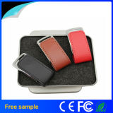 Paypal Accepted USB2.0 Leather Flash Drive with Tin Box