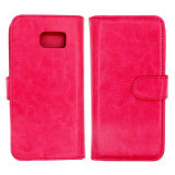 Billfold Style Car Holder Leather PU Cases for iPhone