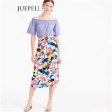 Floral Pintucked MIDI Women Skirt