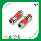 RG6 Cable Compression Type F Male Red Connector