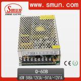 60W Quad Output Switching Power Supply (Q-60B 5V12V-5V-12V)