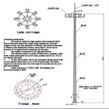 20m Drawing Customized High Mast Light Price