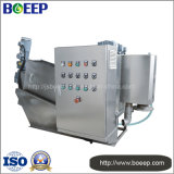 Screw Press Dewatering Machine in Mini Sewage Mud Drying Project