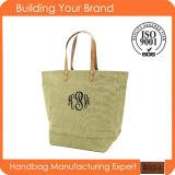 Best Selling Factory Wholesale Lady Burlap Fashion Tote Bag (BDX-161038)