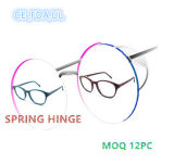 Retro Round Wooden Acetate Spectacle Frame for Men Women